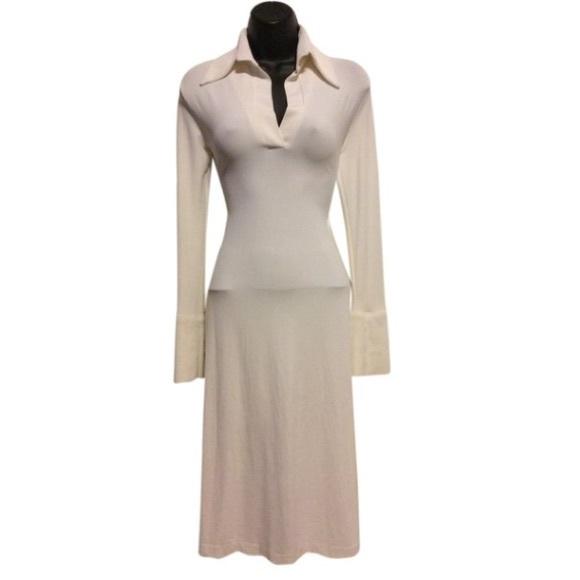 Simona Vignoli Dresses & Skirts - Simona Vignoli Vintage Jersey Collar Dress